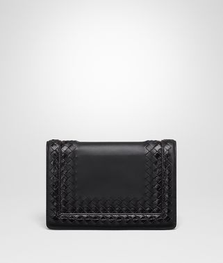 NERO NAPPA LEATHER MONTEBELLO CLUTCH