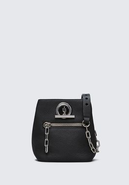 RIOT CROSS BODY BAG IN MATTE BLACK WITH RHODIUM
