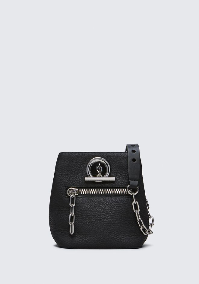 ALEXANDER WANG new-arrivals-bags-woman RIOT CROSS BODY BAG IN MATTE BLACK WITH RHODIUM