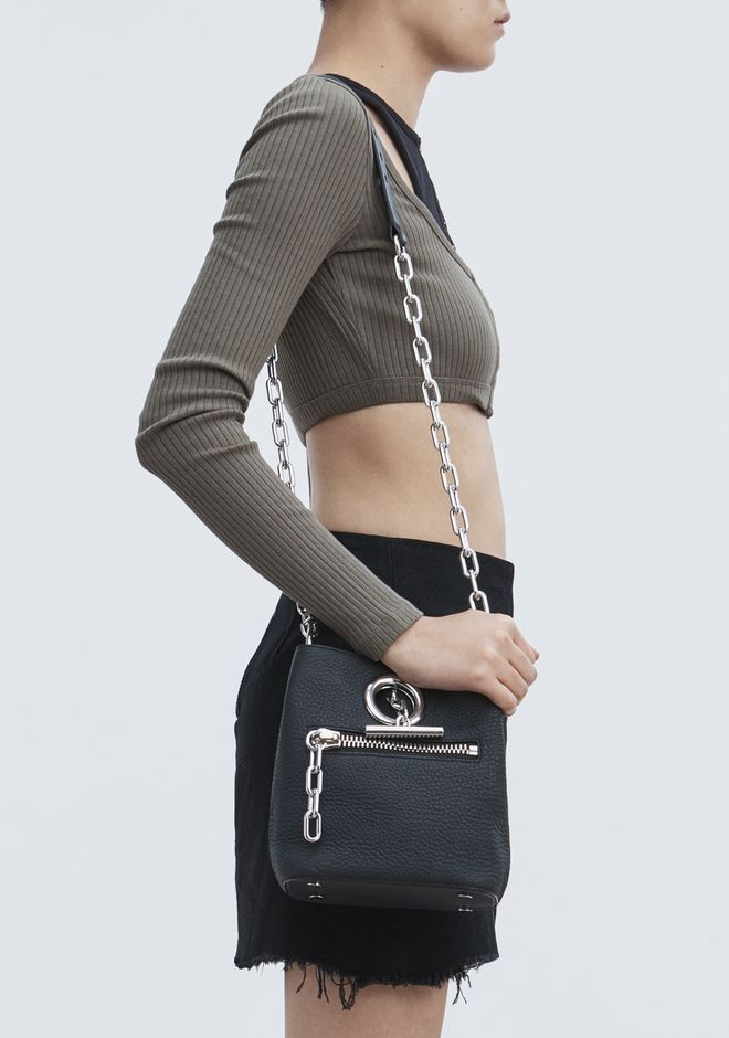 ALEXANDER WANG RIOT CROSS BODY BAG IN MATTE BLACK WITH RHODIUM Shoulder bag Adult 12_n_r