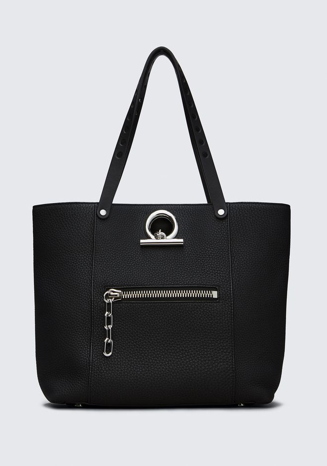 ALEXANDER WANG new-arrivals-women RIOT TOTE IN MATTE BLACK WITH RHODIUM