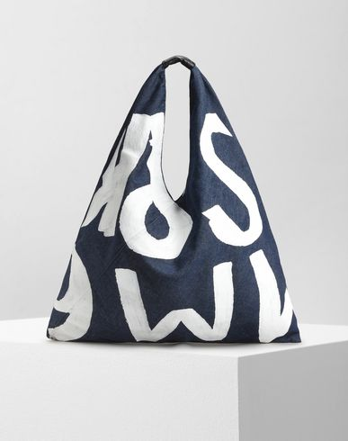 MM6 by MAISON MARGIELA Handbag D Painted denim Japanese tote bag f