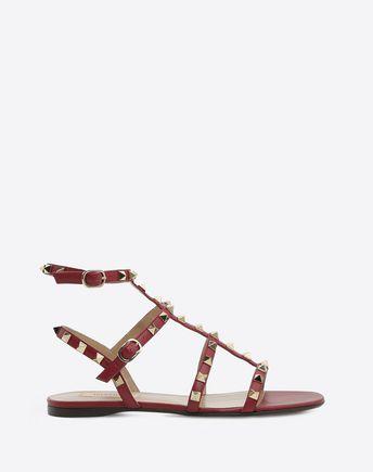VALENTINO GARAVANI FLAT SANDALS D Rockstud sandal f