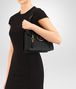 BOTTEGA VENETA MEZZALUNA BAG IN NERO INTRECCIATO NAPPA Top Handle Bag D lp