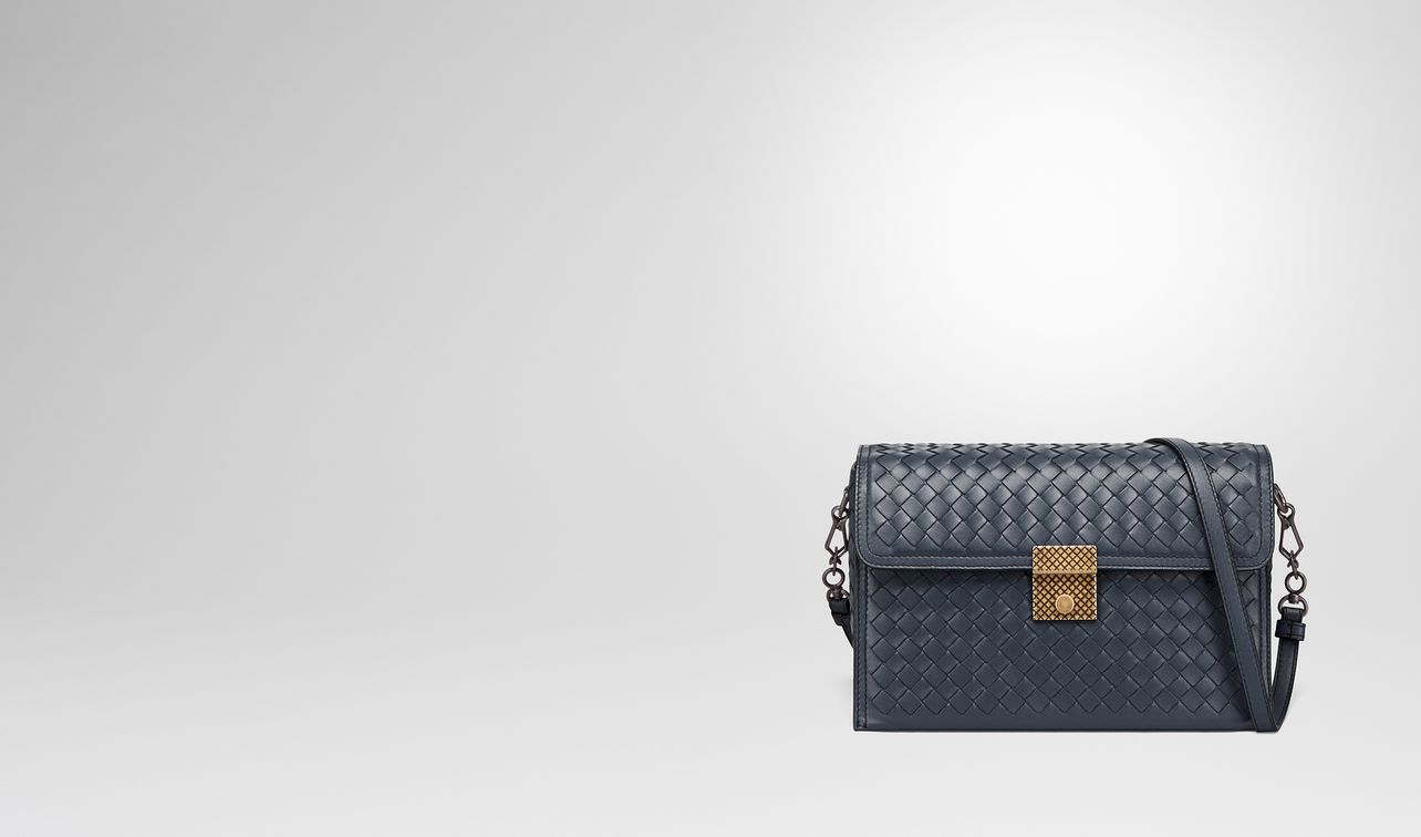 58584486f97f4 ... Shoulder Bag  best service d3789 0b4aa small messenger bag in denim intrecciato  nappa leather landing. BOTTEGA VENETA  free shipping ...
