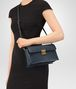 BOTTEGA VENETA SMALL MESSENGER BAG IN DENIM INTRECCIATO NAPPA Crossbody bag Woman ap