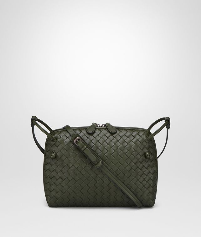BOTTEGA VENETA MESSENGER BAG IN MOSS INTRECCIATO NAPPA LEATHER Crossbody bag D fp