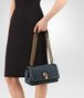 BOTTEGA VENETA OLIMPIA KNOT IN DENIM EMBROIDERED CALF Shoulder or hobo bag D ap