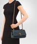 BOTTEGA VENETA OLIMPIA KNOT IN DENIM EMBROIDERED CALF Shoulder or hobo bag Woman lp