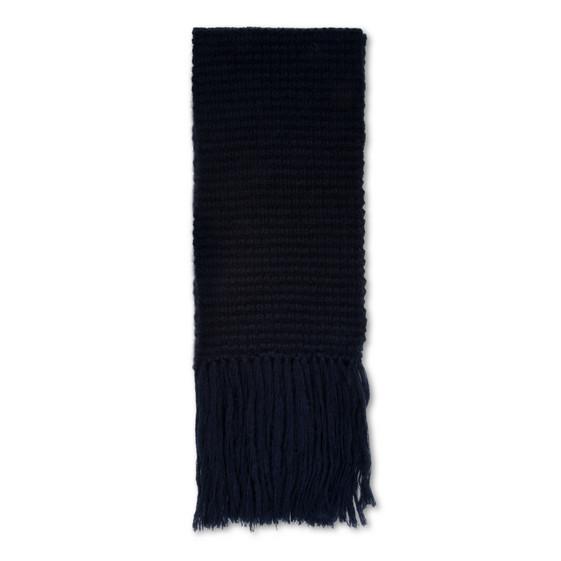ブルー ニット スカーフ