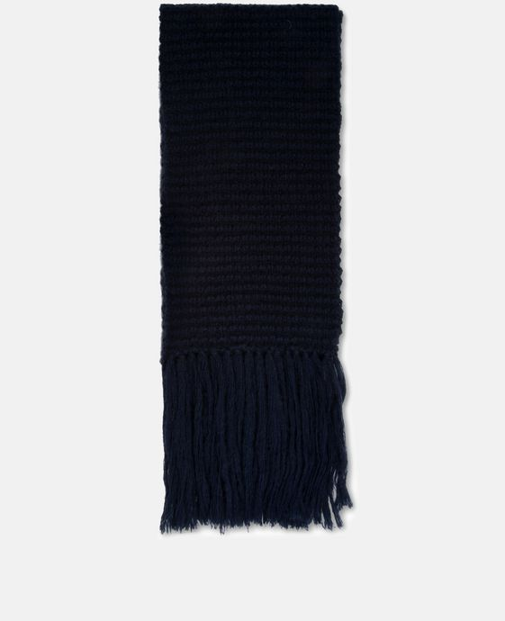 Blue Knit Scarf