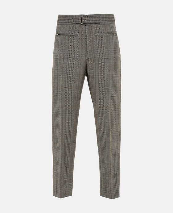 High Waist Herringbone Tailored Pagan Trousers