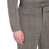 STELLA McCARTNEY MEN High Waist Herringbone Tailored Pagan Trousers Men Tailored Trousers U a