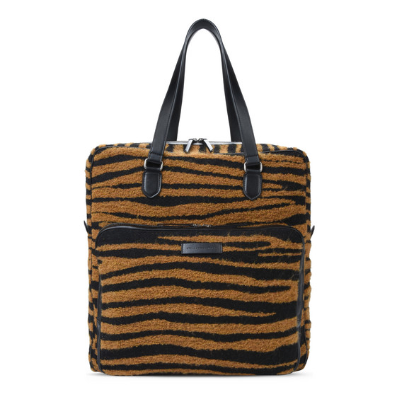 Tiger-Print Business Tote Bag