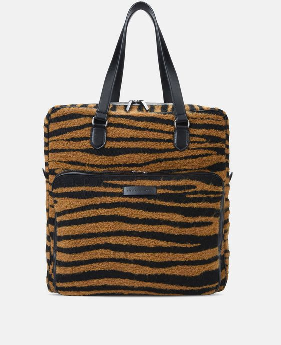 老虎印纹商务手提袋