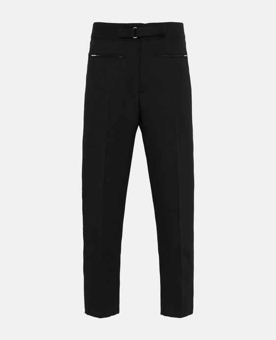 Black High Waist Twill Tailored Pagan Trousers
