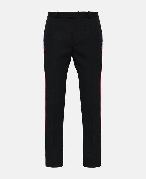 Black Wool Tailored Pax Trousers