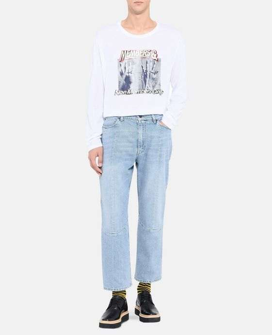 STELLA McCARTNEY MEN Pete Denim Pants    Men Tapered U h
