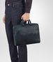 BOTTEGA VENETA BRIEFCASE IN DENIM TOURMALINE EMBROIDERED NAPPA LEATHER, INTRECCIATO DETAIL Business bag Man ap