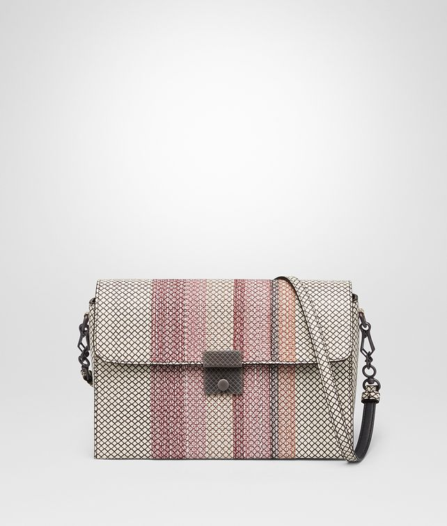 BOTTEGA VENETA MESSENGER BAG IN MIST DESERT ROSE KARUNG Crossbody bag Woman fp