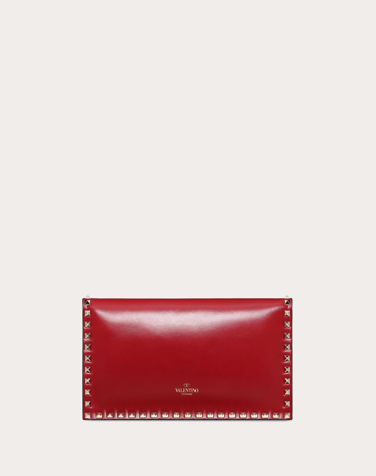 VALENTINO Detachable application Studs Logo Solid color Magnetic closure Internal compartments  45358172lo