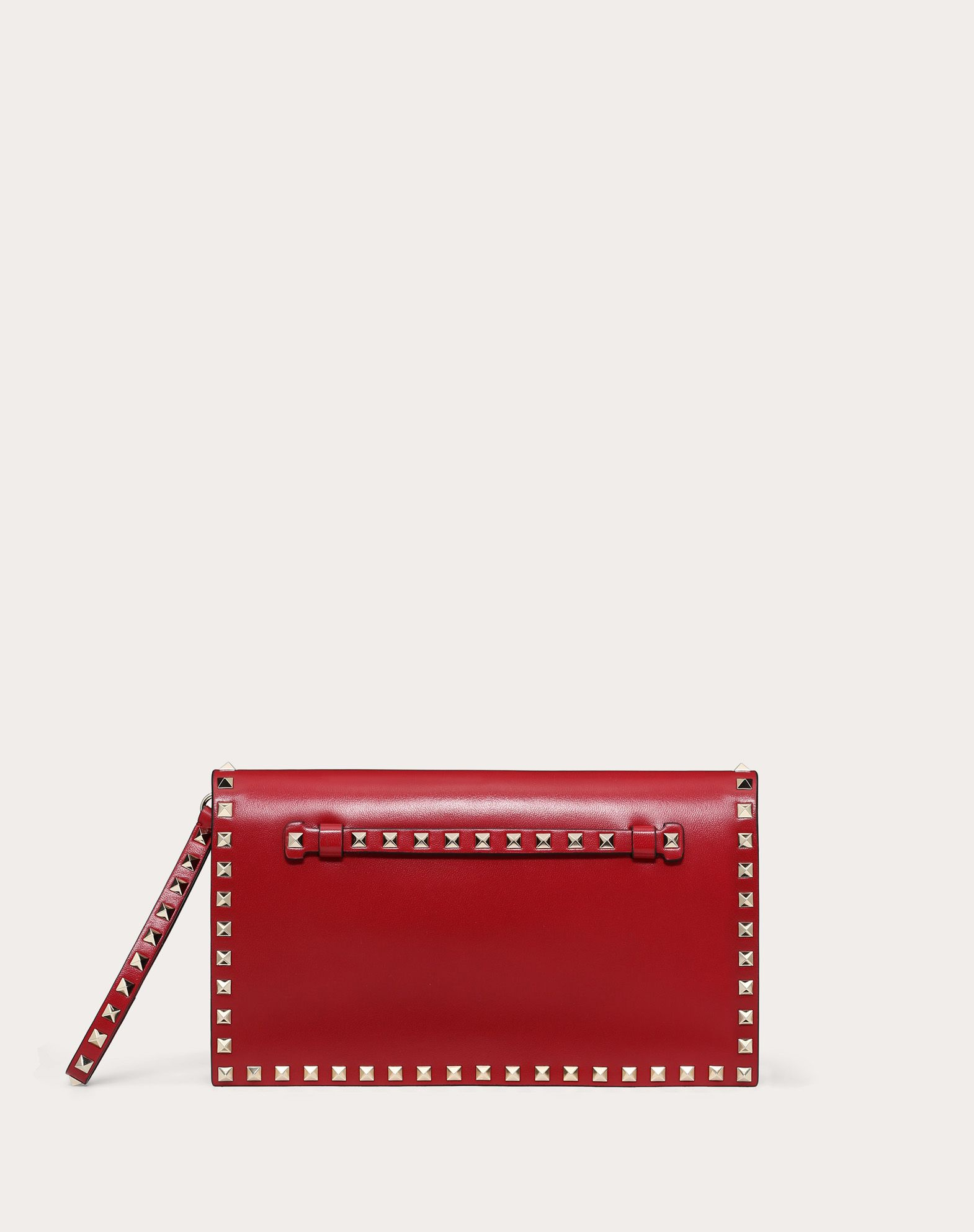 VALENTINO Detachable application Studs Logo Solid colour Magnetic closure Internal compartments  45358172lo