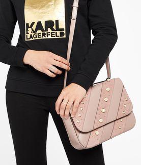 KARL LAGERFELD K/IKONIK PEARLS SHOULDERBAG