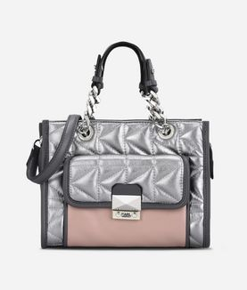 KARL LAGERFELD K/KUILTED MULTI MINI TOTE