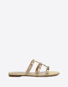 VALENTINO GARAVANI SLIDE SANDAL D Rockstud slide sandal f