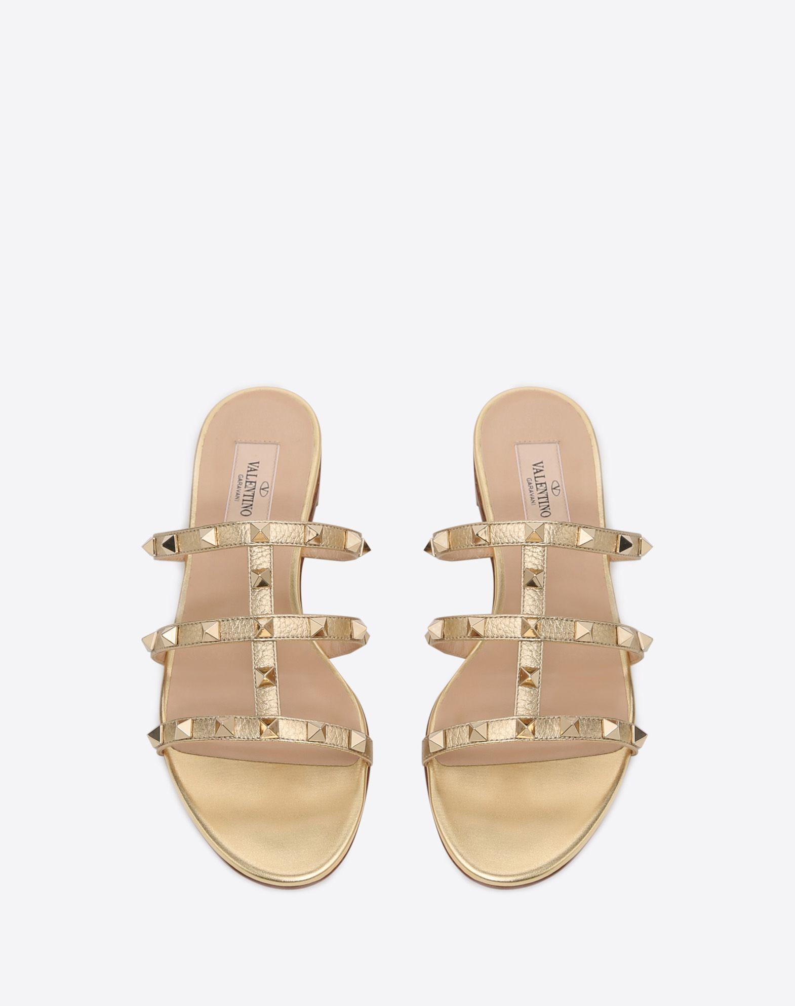 VALENTINO GARAVANI Rockstud slide sandal SLIDE SANDAL D e