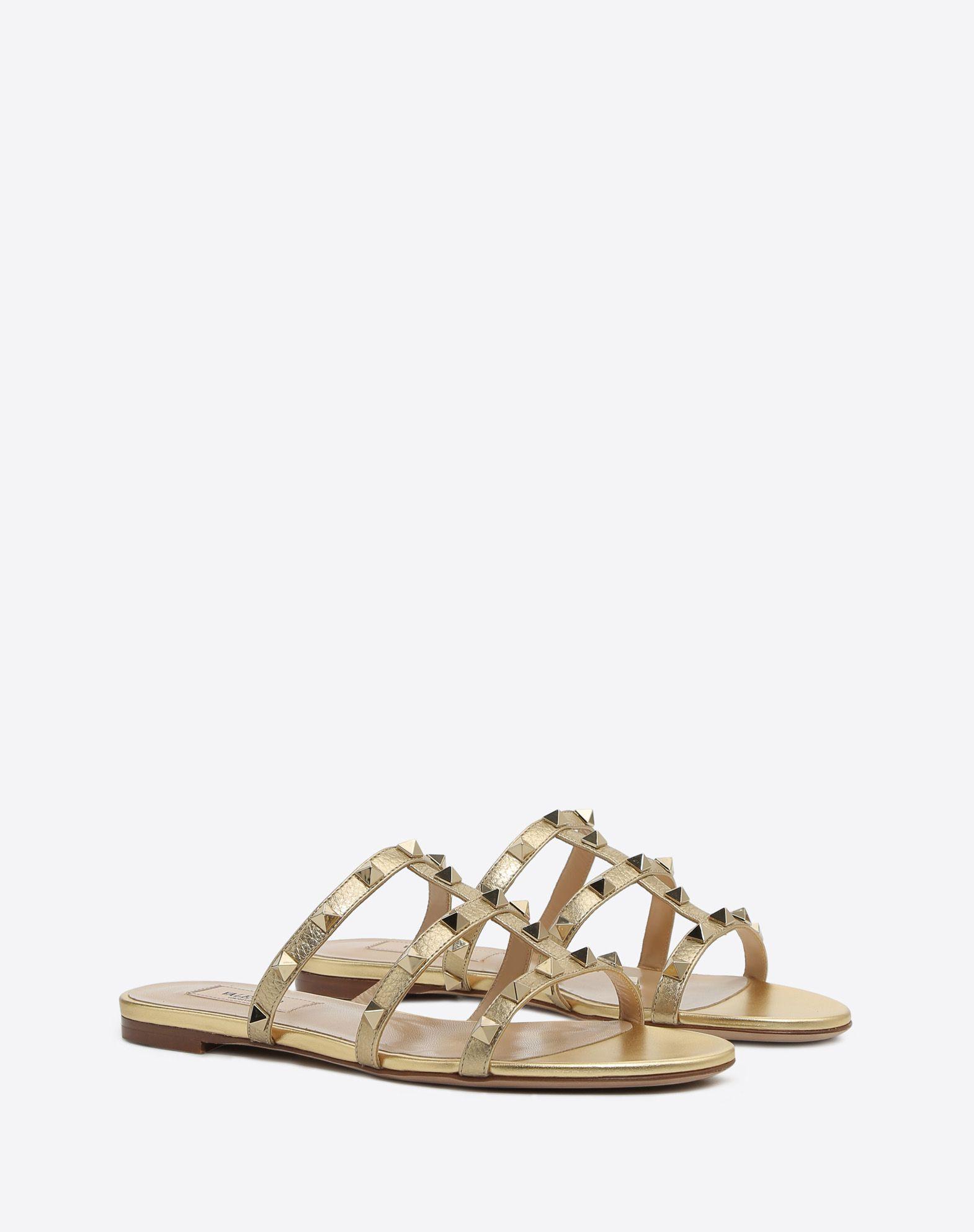 VALENTINO GARAVANI Rockstud slide sandal SLIDE SANDAL D r