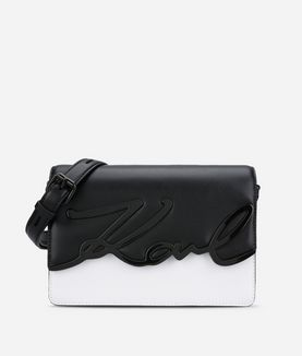 KARL LAGERFELD K/METAL SIGNATURE SHOULDERBAG