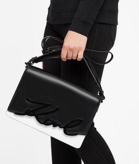 KARL LAGERFELD K/METAL SIGNATURE BIG SHOULDERBAG