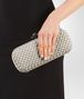 BOTTEGA VENETA STRETCH KNOT IN CEMENT INTRECCIO FAILLE MOIRE Clutch Woman ap