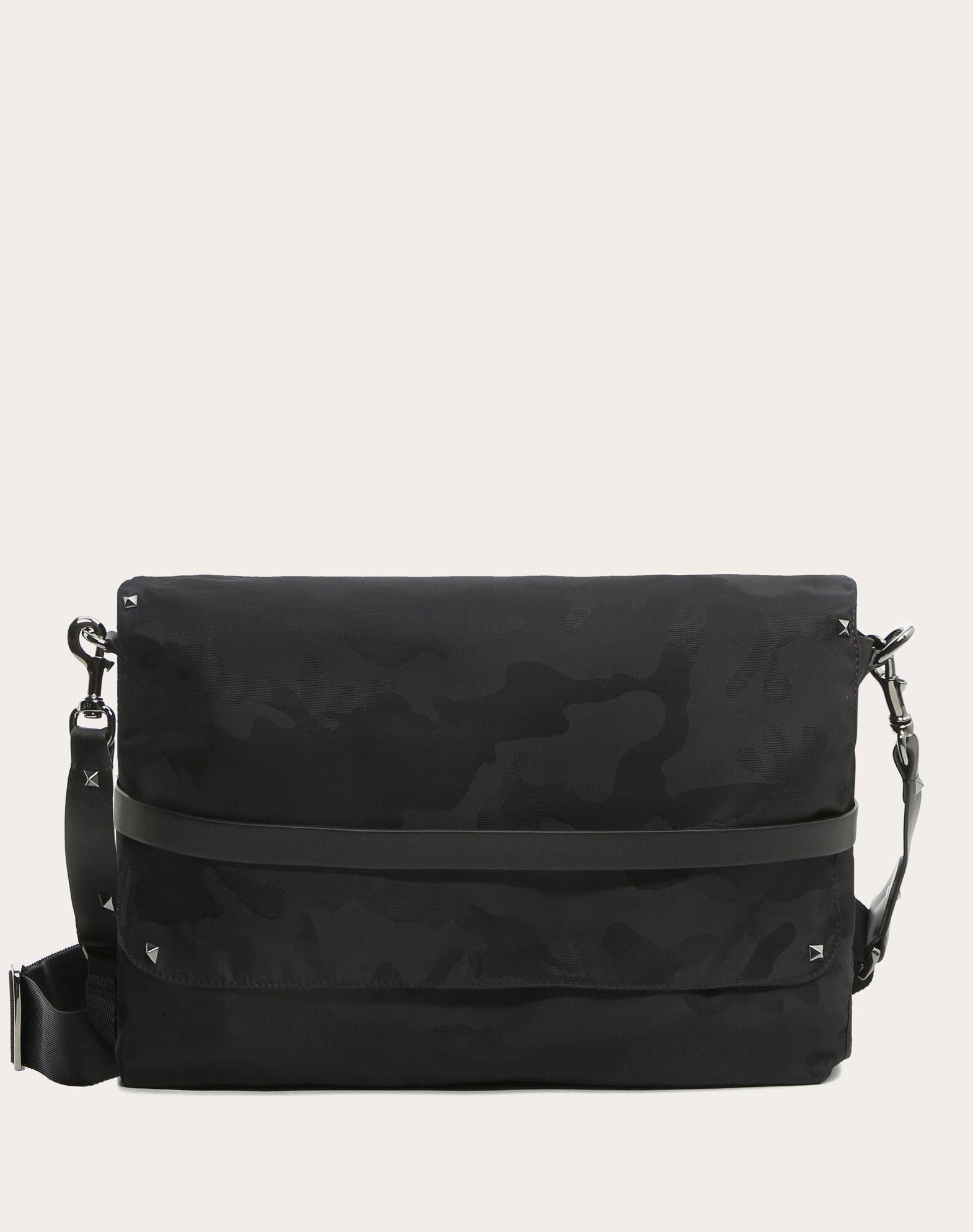 VALENTINO Jacquard Techno fabric Logo Studs Internal pockets Removable shoulder strap  45359563xu