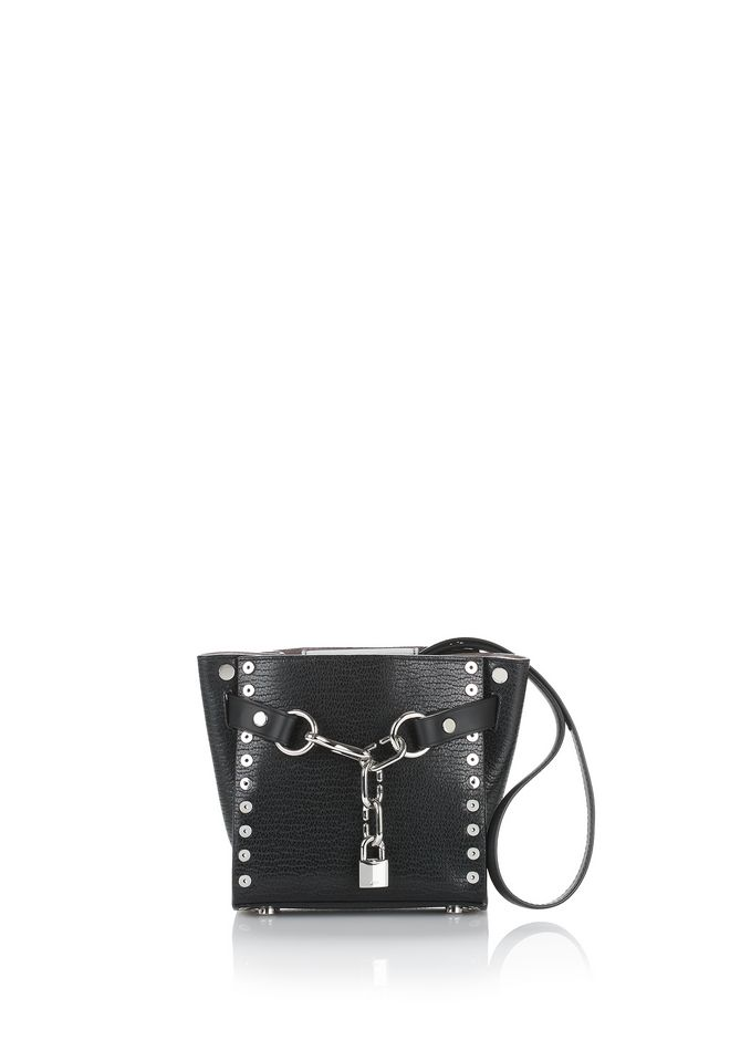 ALEXANDER WANG Shoulder bags Women ATTICA CHAIN MINI SATCHEL IN BLACK WITH RHODIUM