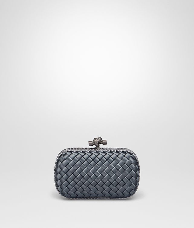 BOTTEGA VENETA KRIM INTRECCIATO IMPERO KNOT Clutch Woman fp