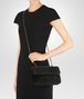 BOTTEGA VENETA BABY OLIMPIA BAG IN NERO EMBROIDERED VELVET, AYERS DETAILS Shoulder or hobo bag Woman ap