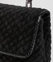BOTTEGA VENETA BABY OLIMPIA BAG IN NERO EMBROIDERED VELVET, AYERS DETAILS Shoulder or hobo bag D ep