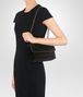 BOTTEGA VENETA BABY OLIMPIA BAG IN NERO EMBROIDERED VELVET, AYERS DETAILS Shoulder or hobo bag D lp