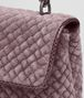 BOTTEGA VENETA BABY OLIMPIA BAG IN GLICINE EMBROIDERED VELVET, AYERS DETAILS Shoulder or hobo bag D ep
