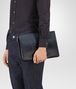 BOTTEGA VENETA DOCUMENT CASE IN DENIM TOURMALINE EMBROIDERED NAPPA LEATHER, INTRECCIATO DETAIL Backpack Man ap