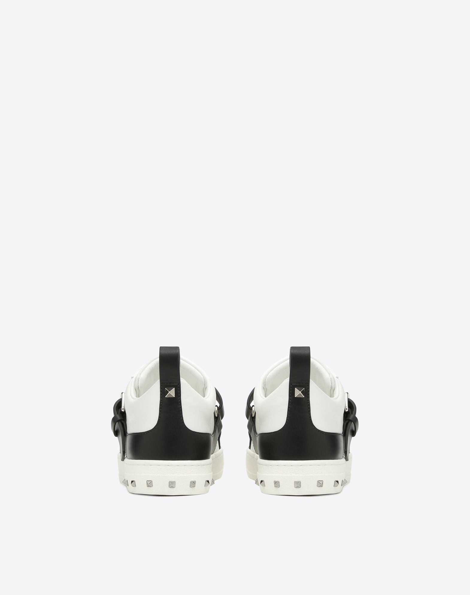 VALENTINO Strap Logo Round toeline Elasticized gores Square heel Rubber cleated sole  45362124aw