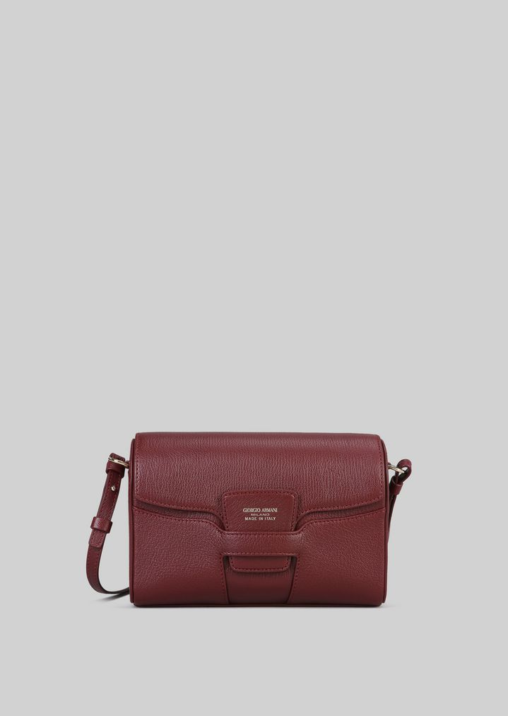 92d6f8e811 LEATHER CROSS-BODY BAG | Woman | Giorgio Armani