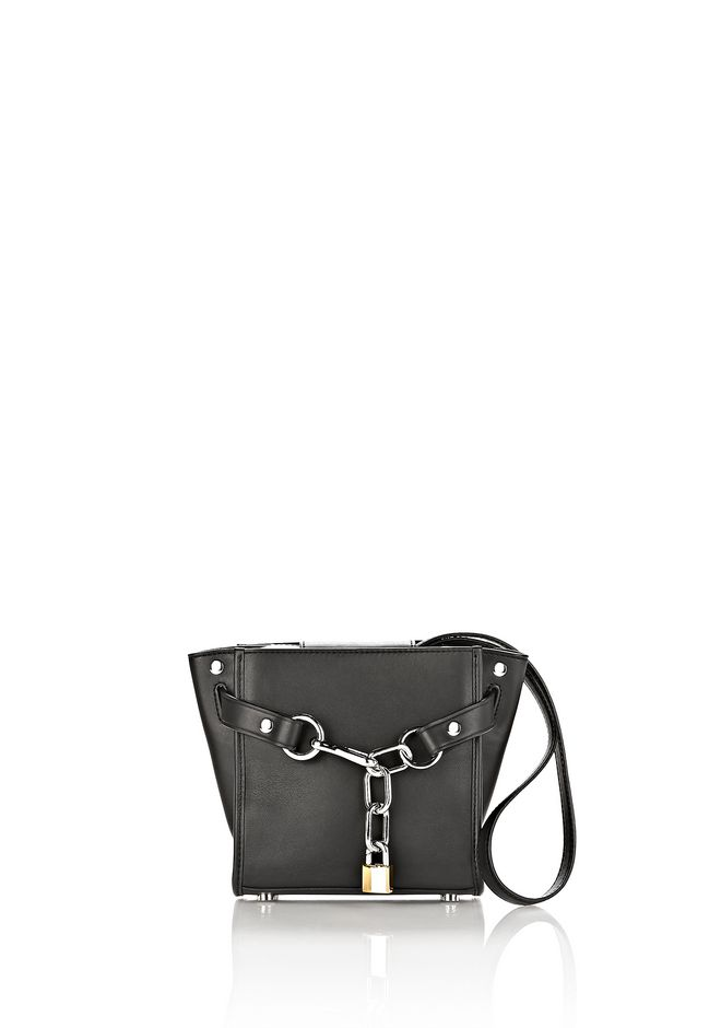 ALEXANDER WANG bags-classics ATTICA CHAIN MINI SATCHEL IN BLACK WITH RHODIUM
