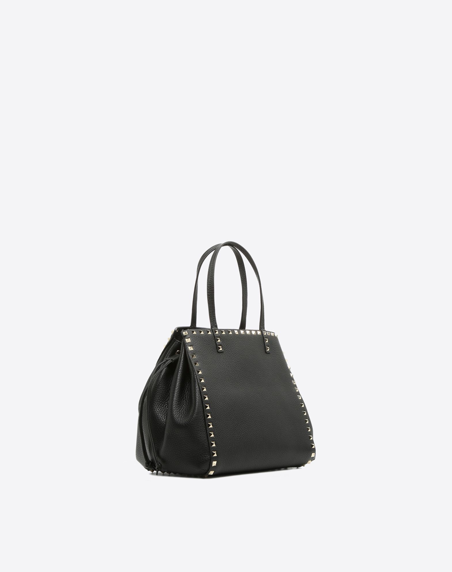 VALENTINO GARAVANI Rockstud Double Handle Bag HANDBAG D r