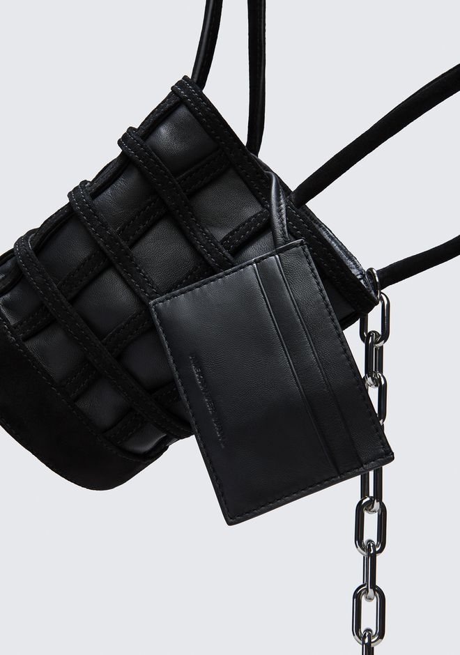 ALEXANDER WANG CAGED ROXY MINI BUCKET IN BLACK WITH RHODIUM Shoulder bag Adult 12_n_e