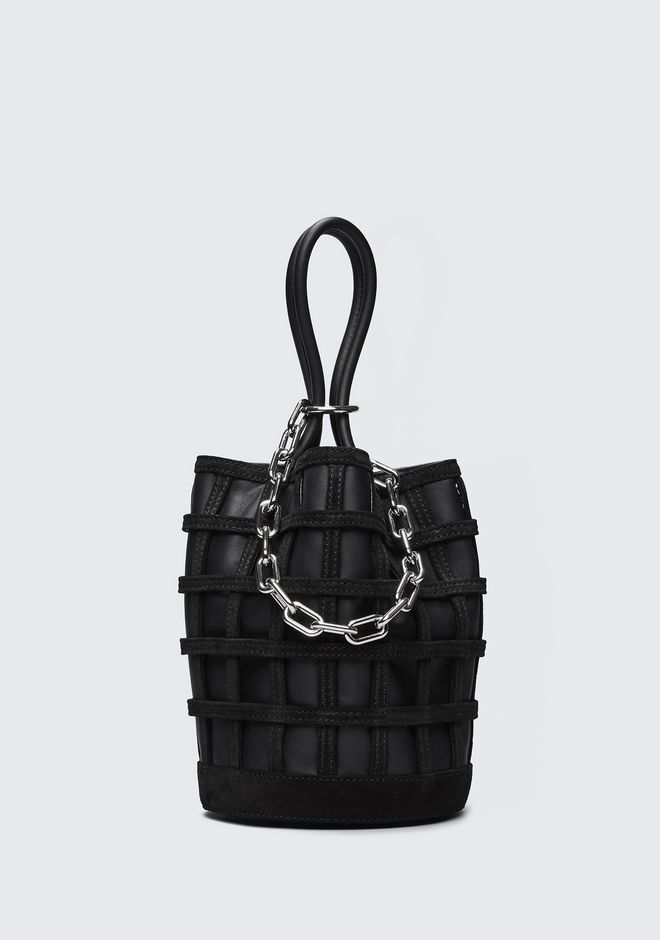 ALEXANDER WANG new-arrivals-bags-woman CAGED ROXY BUCKET IN BLACK WITH RHODIUM