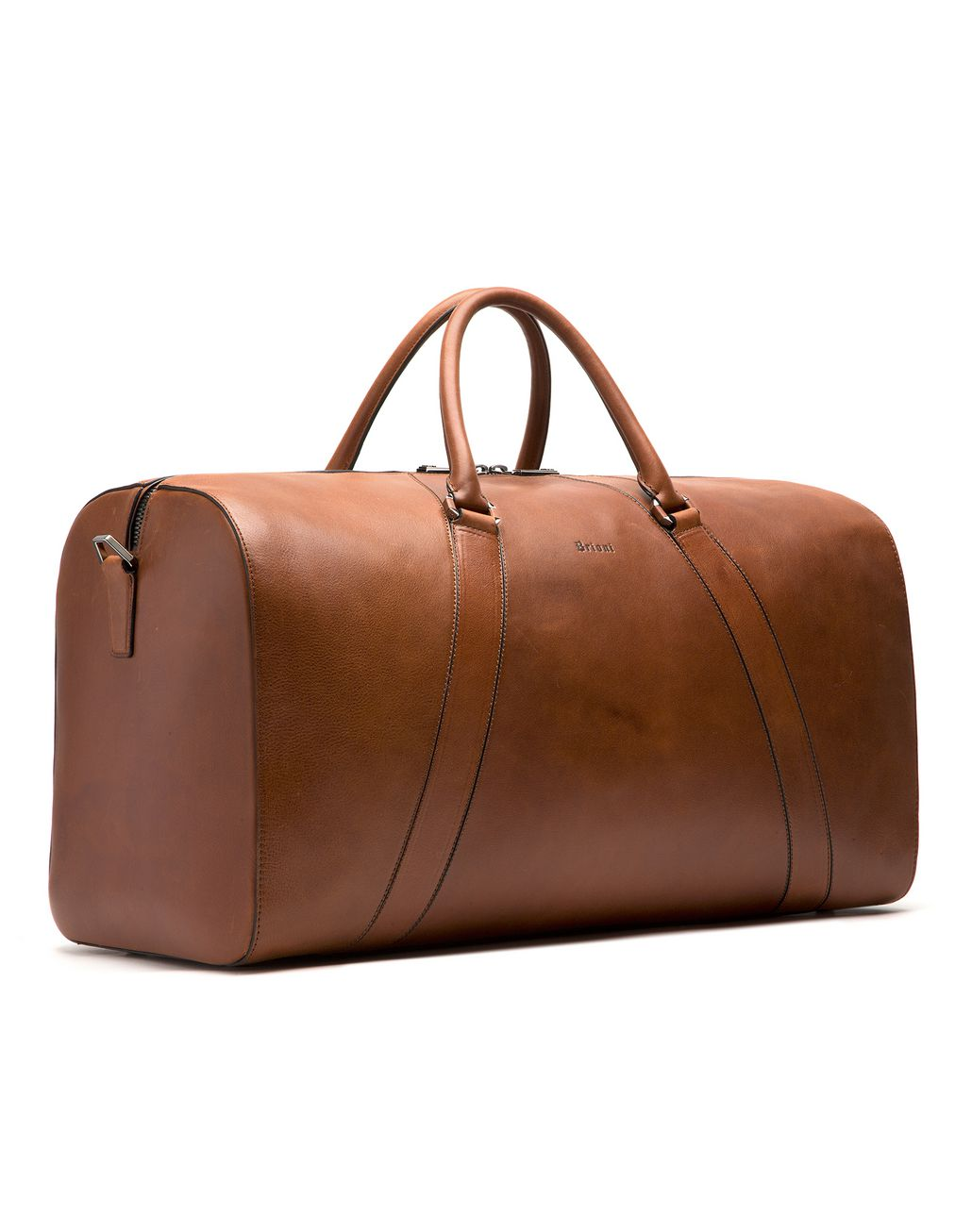 BRIONI Tobacco Brown Travel Bag in Calfskin Bag Man d