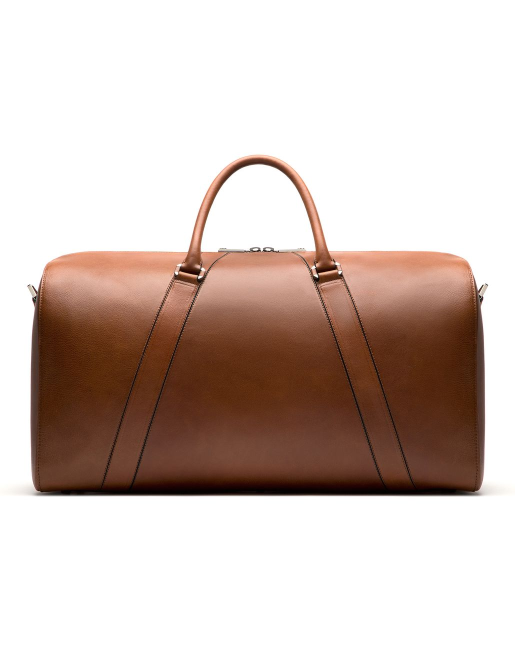 BRIONI Tobacco Brown Travel Bag in Calfskin Bag Man r